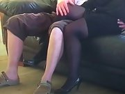 Mrs toodosex4u dressed to fuck for an old friend coming over