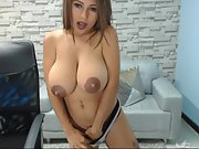Amateur hottie busty slut webcam with amazing areolas p1