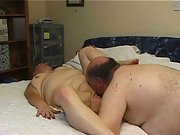 Mature chubby couple homemade porn movie oral sex and fucking
