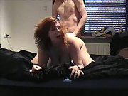 A busty wife getting it on and enjoying it cunt fingered then fucked