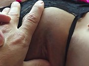 Hubby loves my pussy and my tits and I love to show them off