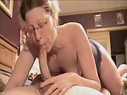 Mature woman delivers the most amazing blowjob