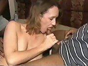White amateur swinger loves black cock gangbangs