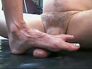 Footjob with cumshot