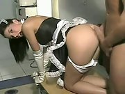 Naughty french maid uniform turns my wife into a sex machine