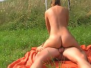 Hot sex outdoors