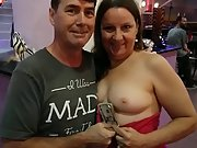 Rosemary sharing her tits with a few friends